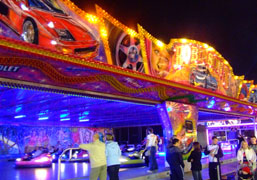 Photograph of our Dodgems at Hull Fair