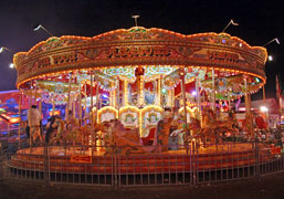 Photograph of a traditional Carousel at Leeds Valentines fair